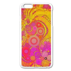 Super Bright Abstract Apple iPhone 6 Plus Enamel White Case