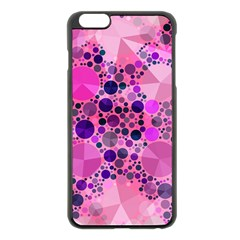 Pink Bling  Apple Iphone 6 Plus Black Enamel Case