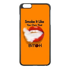 Vape Mouth Smoke Own That Apple iPhone 6 Plus Black Enamel Case