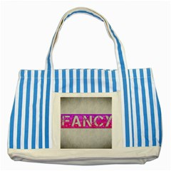 Fancy Abstract  Blue Striped Tote Bag