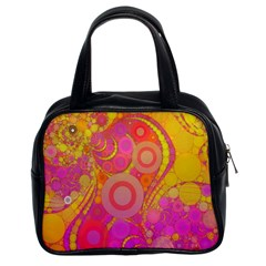 Super Bright Abstract Classic Handbag (two Sides)