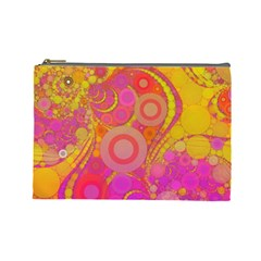 Super Bright Abstract Cosmetic Bag (large)