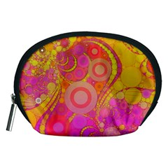 Super Bright Abstract Accessory Pouch (Medium)