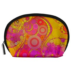 Super Bright Abstract Accessory Pouch (Large)