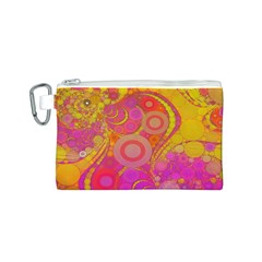Super Bright Abstract Canvas Cosmetic Bag (Small)