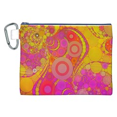Super Bright Abstract Canvas Cosmetic Bag (XXL)