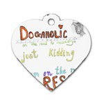 D0gaholic Dog Tag Heart (One Sided)  Front