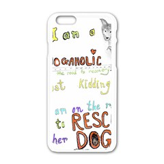 D0gaholic Apple iPhone 6 White Enamel Case