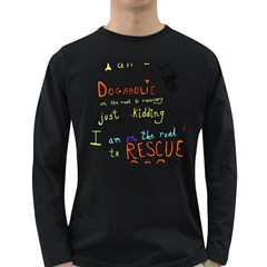 D0gaholic Men s Long Sleeve T-shirt (Dark Colored)