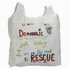 D0gaholic White Reusable Bag (one Side)