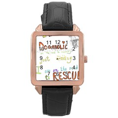 D0gaholic Rose Gold Leather Watch