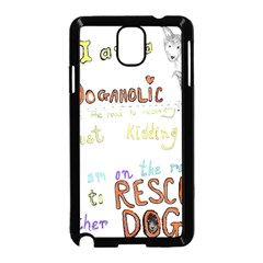 D0gaholic Samsung Galaxy Note 3 Neo Hardshell Case (Black)