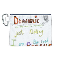 D0gaholic Canvas Cosmetic Bag (Large)