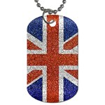 England Flag Grunge Style Print Dog Tag (One Sided) Front