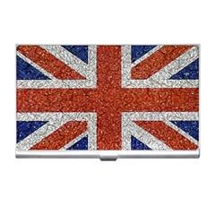 England Flag Grunge Style Print Business Card Holder