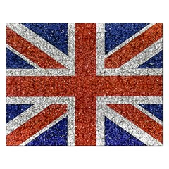 England Flag Grunge Style Print Jigsaw Puzzle (rectangle)