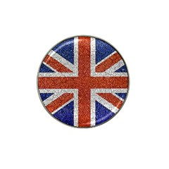 England Flag Grunge Style Print Golf Ball Marker (for Hat Clip)