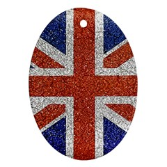 England Flag Grunge Style Print Oval Ornament (two Sides)