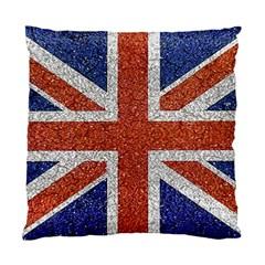 England Flag Grunge Style Print Cushion Case (single Sided)