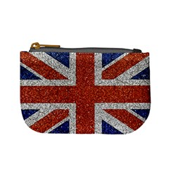 England Flag Grunge Style Print Coin Change Purse