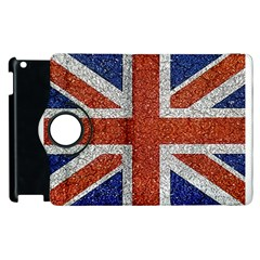 England Flag Grunge Style Print Apple iPad 2 Flip 360 Case
