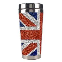 England Flag Grunge Style Print Stainless Steel Travel Tumbler