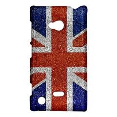 England Flag Grunge Style Print Nokia Lumia 720 Hardshell Case