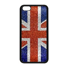 England Flag Grunge Style Print Apple iPhone 5C Seamless Case (Black)