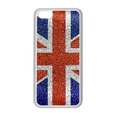 England Flag Grunge Style Print Apple iPhone 5C Seamless Case (White)