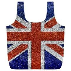 England Flag Grunge Style Print Reusable Bag (XL)