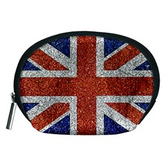 England Flag Grunge Style Print Accessory Pouch (Medium)
