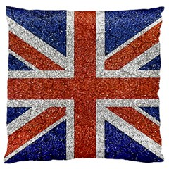 England Flag Grunge Style Print Large Flano Cushion Case (Two Sides)
