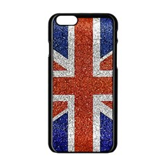 England Flag Grunge Style Print Apple iPhone 6 Black Enamel Case