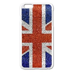 England Flag Grunge Style Print Apple iPhone 6 Plus Enamel White Case