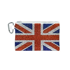 England Flag Grunge Style Print Canvas Cosmetic Bag (Small)