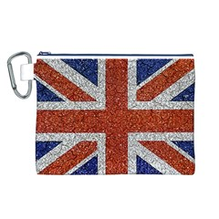 England Flag Grunge Style Print Canvas Cosmetic Bag (large)