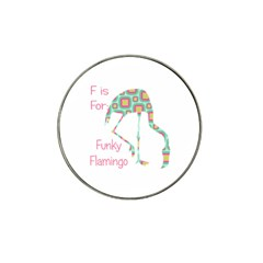 F Is For Funky Flamingo Golf Ball Marker 4 Pack (for Hat Clip)