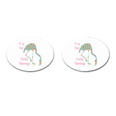 F Is For Funky Flamingo Cufflinks (Oval)