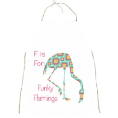 F Is For Funky Flamingo Apron