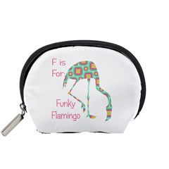 F Is For Funky Flamingo Accessory Pouch (small)
