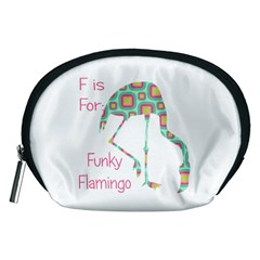 F Is For Funky Flamingo Accessory Pouch (Medium)