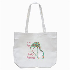 F Is For Funky Flamingo Tote Bag (White)