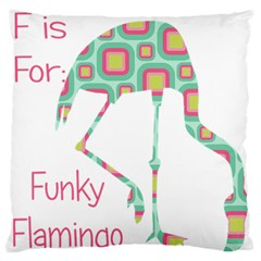 F Is For Funky Flamingo Standard Flano Cushion Case (One Side)