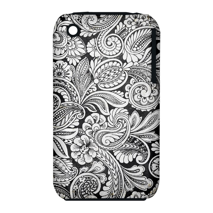 floral swirls Apple iPhone 3G/3GS Hardshell Case (PC+Silicone)