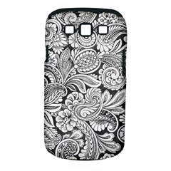 floral swirls Samsung Galaxy S III Classic Hardshell Case (PC+Silicone)