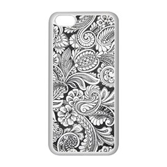 floral swirls Apple iPhone 5C Seamless Case (White)