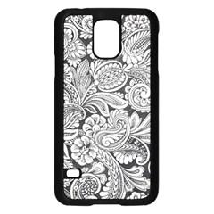 floral swirls Samsung Galaxy S5 Case (Black)