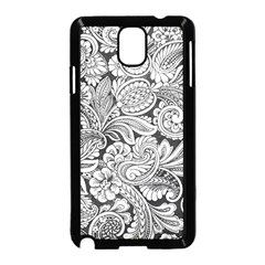floral swirls Samsung Galaxy Note 3 Neo Hardshell Case (Black)