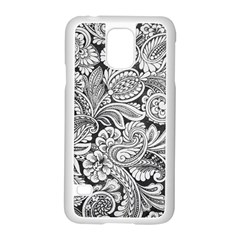 Floral Swirls Samsung Galaxy S5 Case (white)