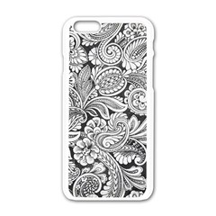 floral swirls Apple iPhone 6 White Enamel Case